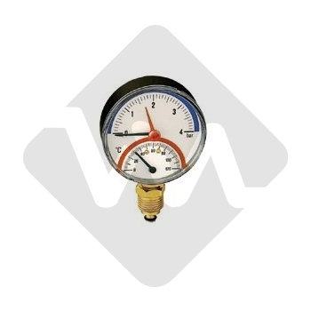 THERMOMANOMETER 0-4 BAR-0-120C RADIAL CALEFFI