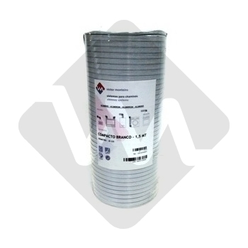 FLEXIBLE PIPE IN WHITE ALUMINUM COMPRESSED - 1,5 MT
