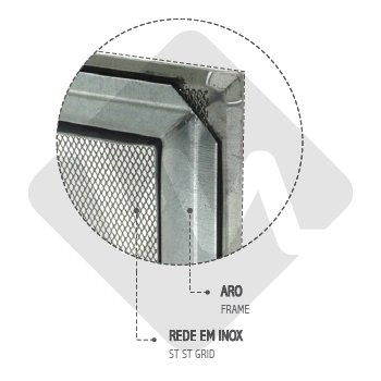 FIREPLACE GRILLE WITH FRAME