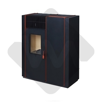 SALAMANDRA A PELLETS TEK BIOMASSE SLIM RED 8 kW