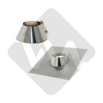 5º/35º ADJUSTABLE FLASHING + COLLAR ST.ST. / ALUMINUM